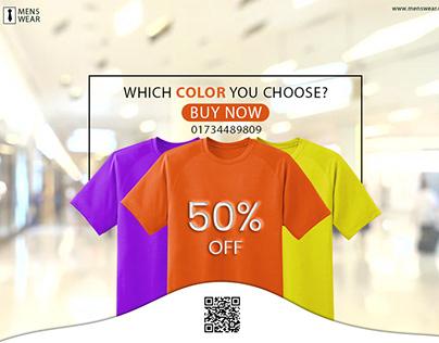 T-shirt advertisement design for facebook