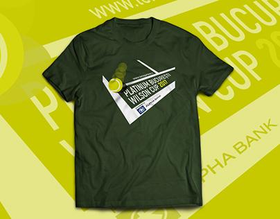 Tennis Tournament T-shirt Design
