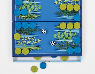 Bckgammon game board