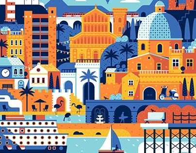 Cagliari WakeUpDay Travel Festival Poster