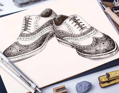 Pen and paper. Drawings made for the client.