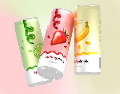 Spring Drink Package Design