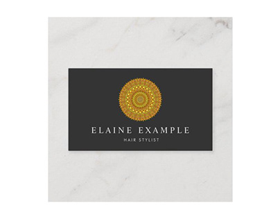 Floral Gold Ornate Mandala Business Card