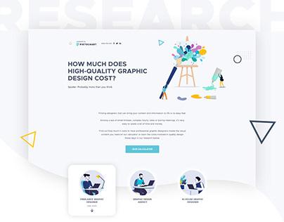 Piktochart. Design Cost Research