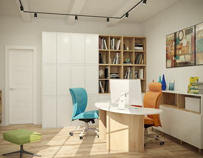 Визуализация дизайн проекта кабинета