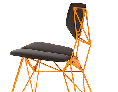 Prefabricated metal chair Star