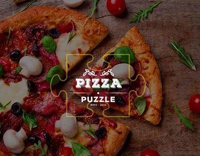 Pizza Puzzle, landing page