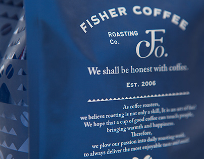 FISHER COFFEE NEW BRANDING IDENTITY