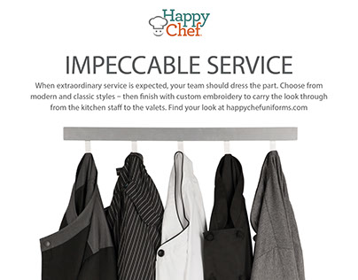 Happy Chef print ad