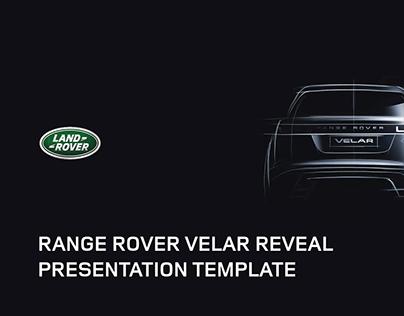 Range Rover Velar Reveal Presentation Template