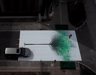 Green Pedestrian Crossing / 绿色步行