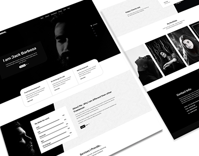 UI Design for Portfolio Website