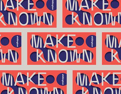 Make Known — Shillo Grad Dec 2018