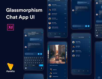 Glassmorphism Chat Application UI Kit