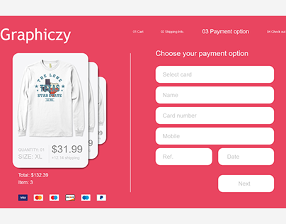 Daily UI challenge. Day #002: Credit Card Checkout
