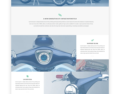 Honda products introduced in this website concept