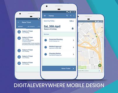 DigitalEverywhere App Design: Adobe Photoshop Mockup