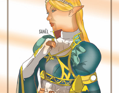 Zelda (BOTW)_ Digital Art