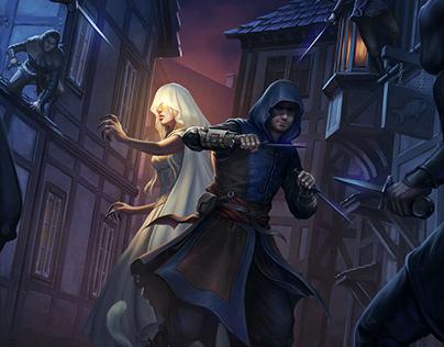Alley Fight - Scene Illustration