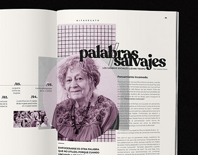 Diseño Editorial | Palabras Salvajes.