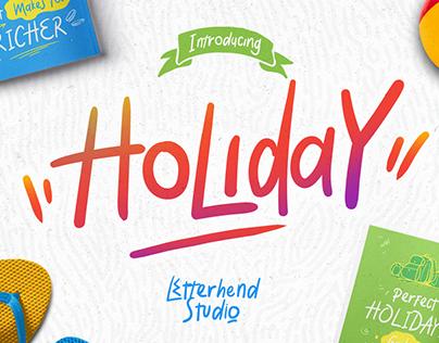 Holiday Handdrawn Font
