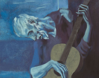 "Copia de ""El guitarrista ciego"" de Picasso."
