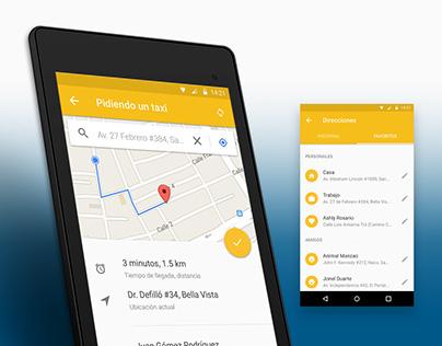 UI/UX: TaxiApp