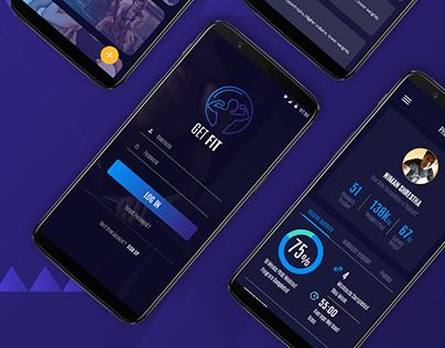 GET FIT - Fitness app concept