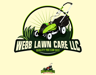 LOGO CONCEPT FOR A LAWN MOWING COMPANY
