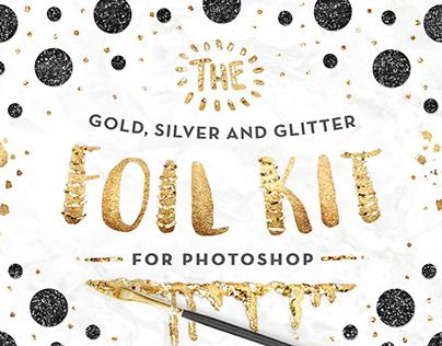 Photoshop Gold Foil Kit Essentials By:PinkCoffie