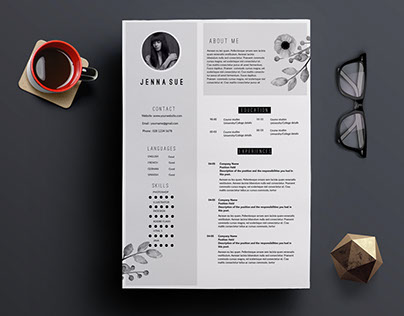 Modern 2-page resume template