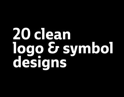 20 clean logo & symbol designs