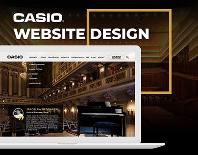 CASIO Music Website Design