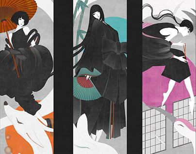 Reinterpretation of Japanese Folklore Heroines by Kate