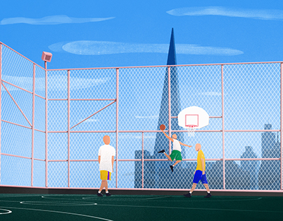 Basketball court posters