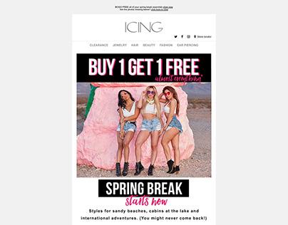 Icing Marketing Emails-Spring 2018