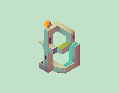 Alphabet Valley | Inspired by Monument Valley