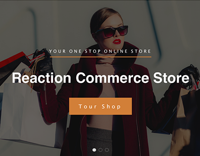 Reaction Commerce Landing Page Mockup