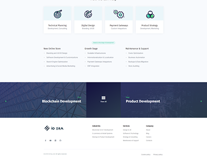 IO Era E-commerce Industry Landing Page
