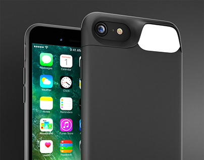 Case for iPhone with battery and flash