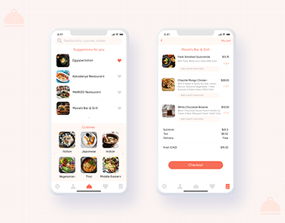 Food Delivery App Interface