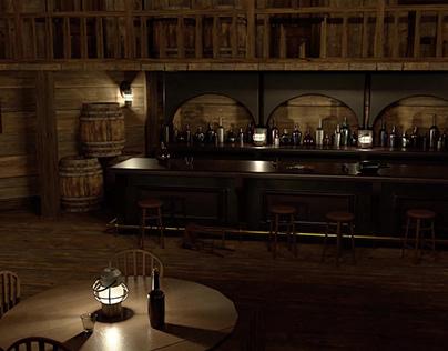 3D Saloon Environment