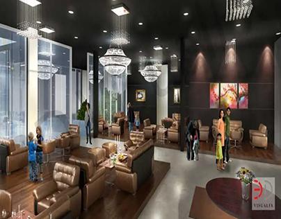 3D Club Lobby Design