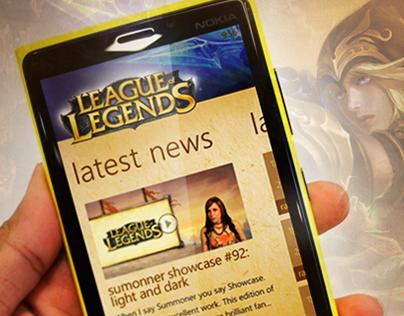 League of Legends Windows Phone Application