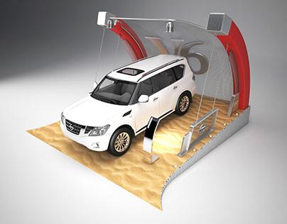 Nissan Patrol Display V6 Stand