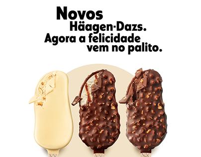 Lançamento sorvetes no palito Häagen-Dazs