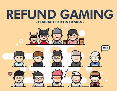 CHARACTER ICON DESIGN 01 - REFUND GAMING