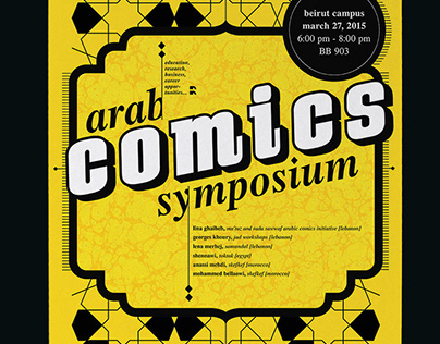 Comics Symposium Poster