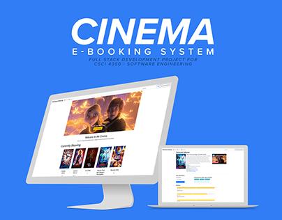 Cinema: Full-Stack Web App