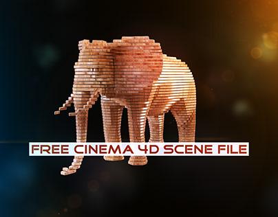 Slicer   Fully Rigged Free Cinema 4D Scene File